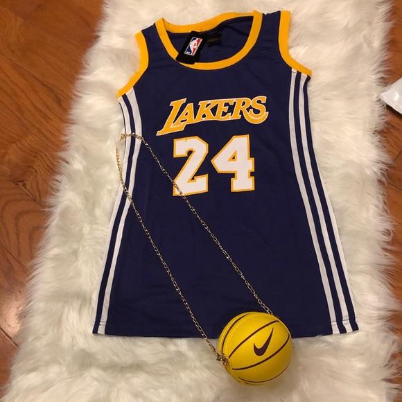 Jersey Dress Lakers & Basketball Bag